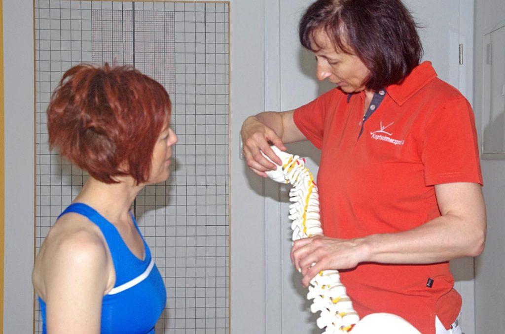 Kopfschmerzpraxis Antonia Reschenhofer, Wirbelsäule